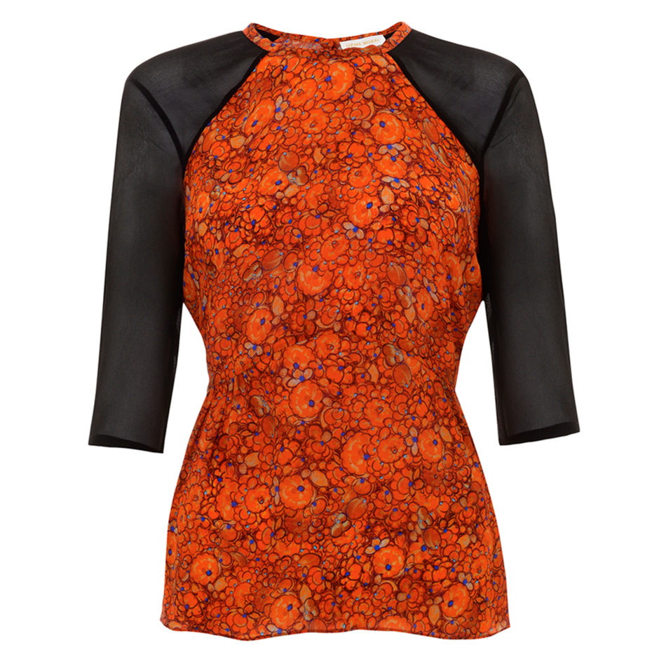 Iris Blouse, Orange