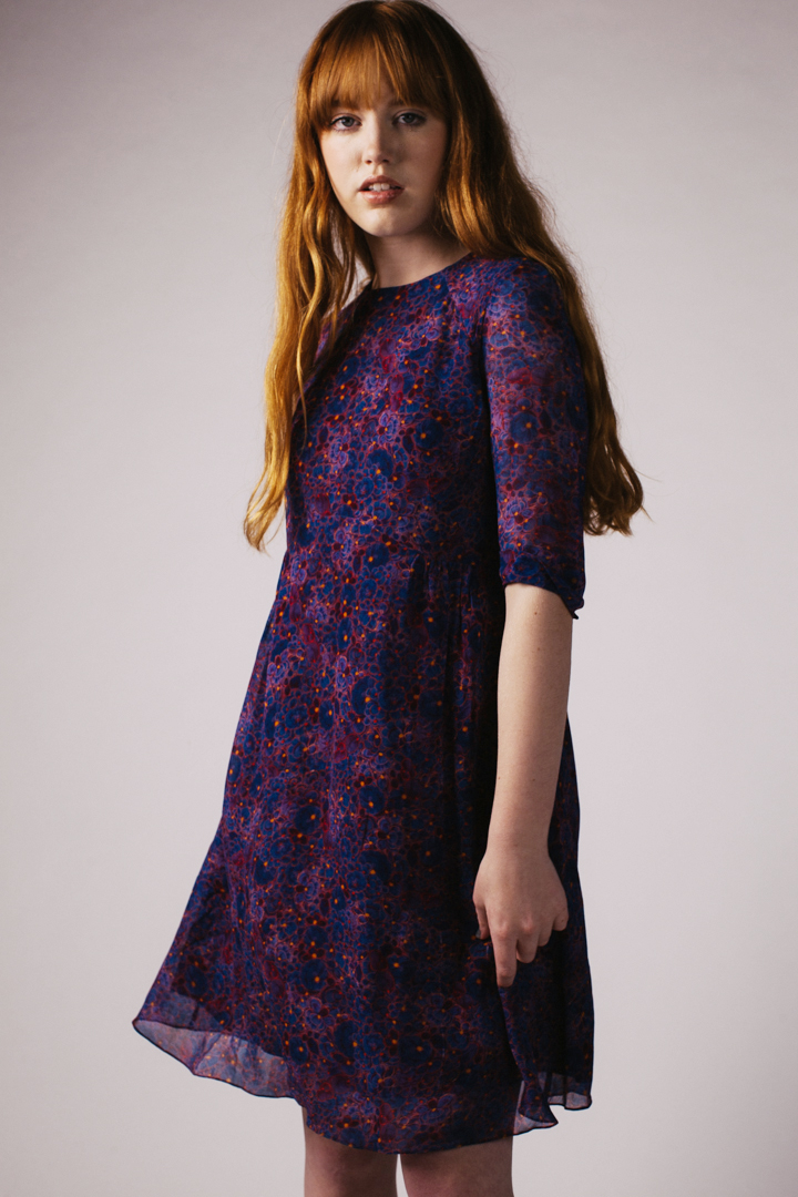 Miriam Dress, Plum