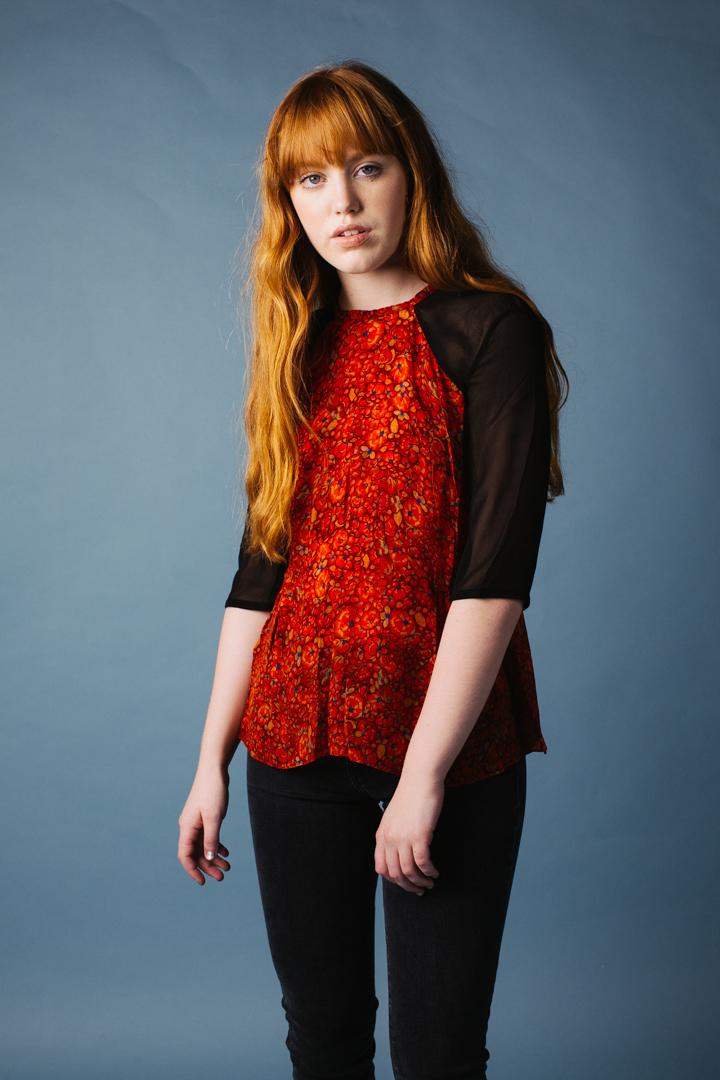 Iris Blouse, Orange