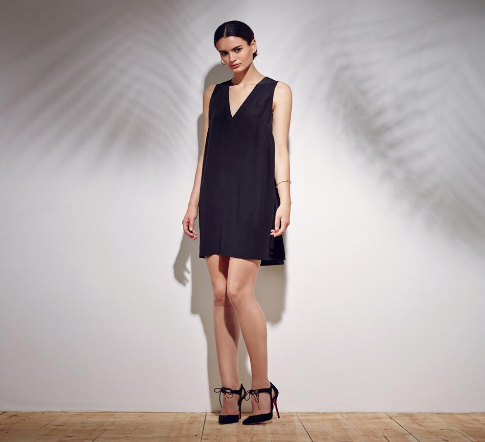 Novin Dress - Black Viscose