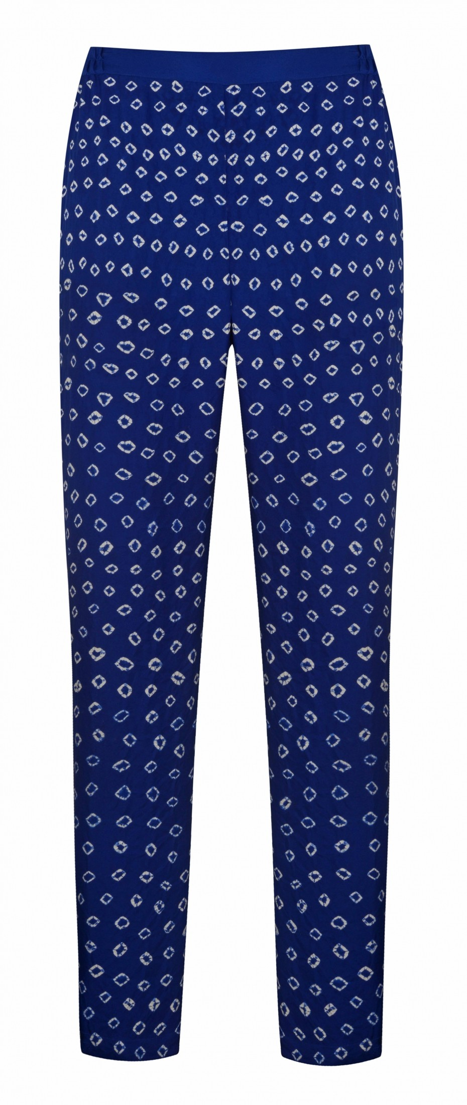 Hilda Trousers – Electric Blue Bandhani Silk