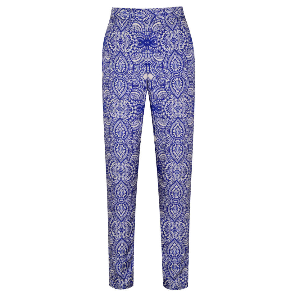 Mehindi Trousers – Electric Blue Cotton Viscose