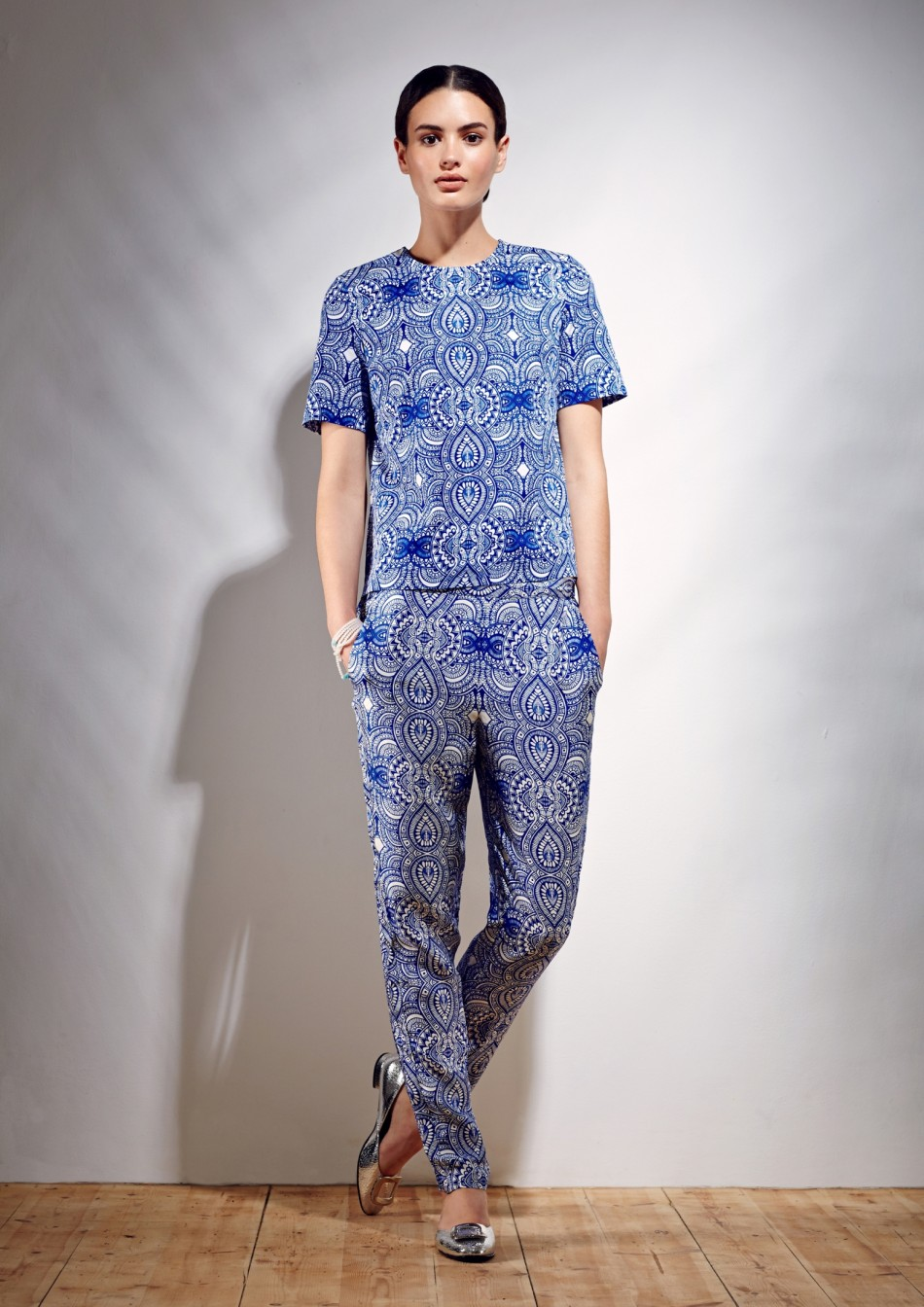 Mehindi Trousers - Electric Blue Cotton Viscose
