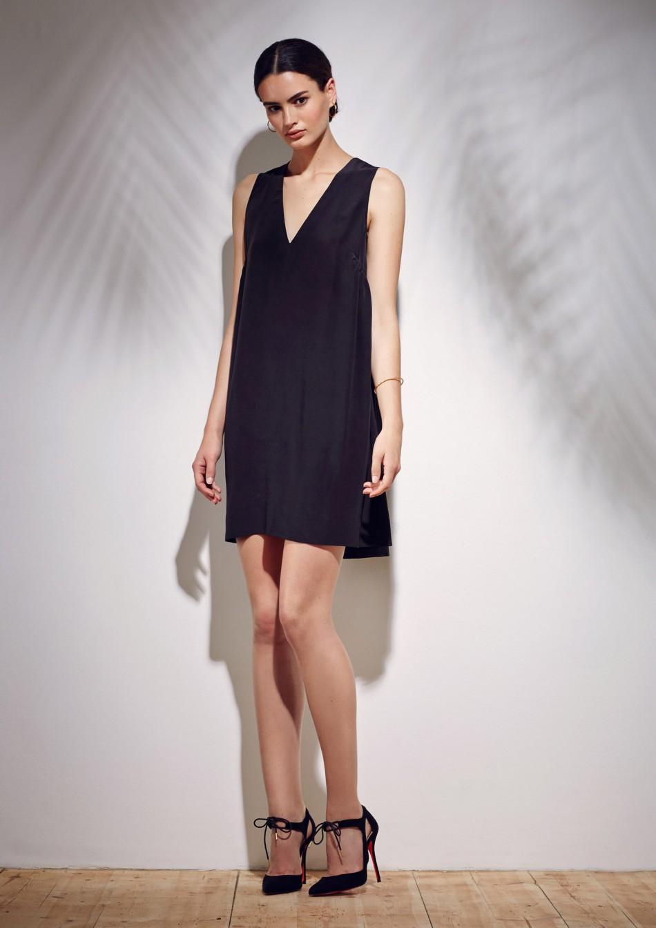 Novin Dress – Black Viscose