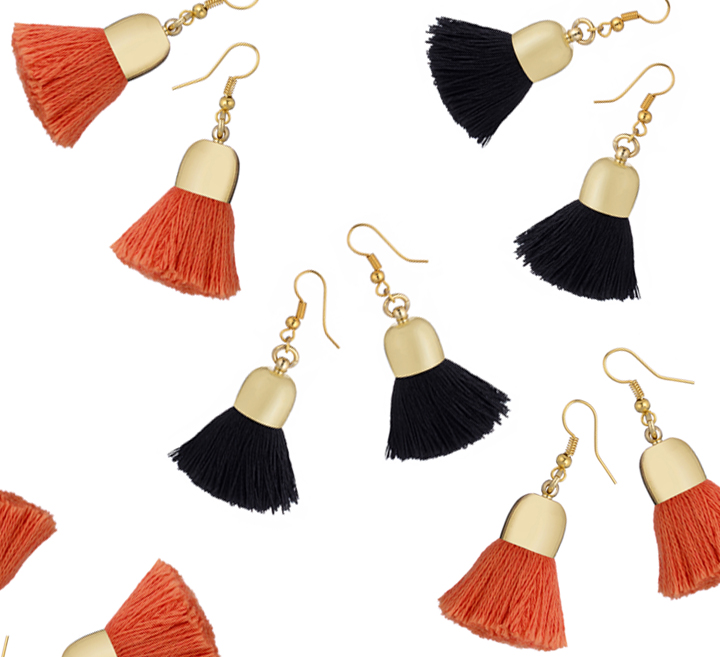 Ami Earrings, Black