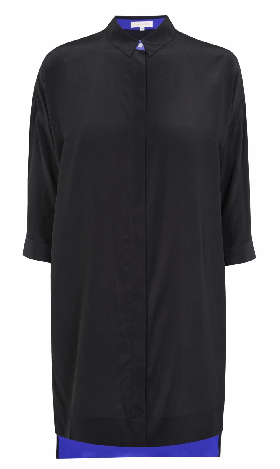 Malih Shirt Dress – Black Silk