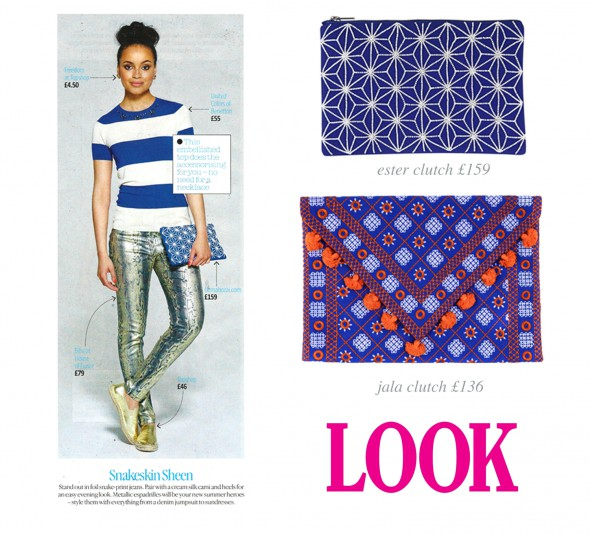 Look Magazine Features Our Ester Clutch!