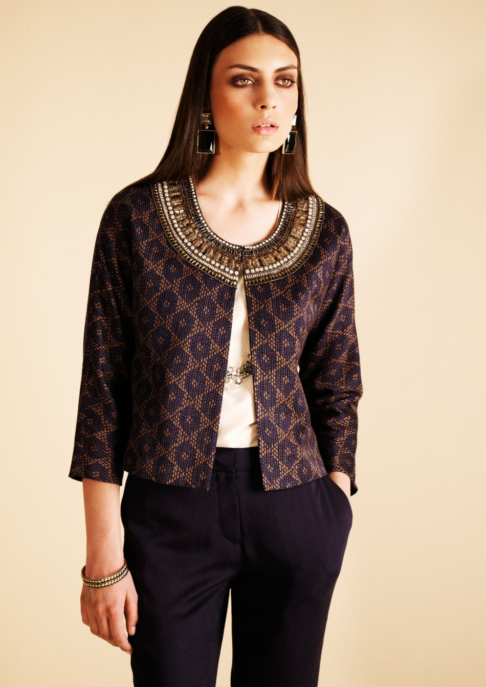 ZARDOZI EMBELLISHED JACKET