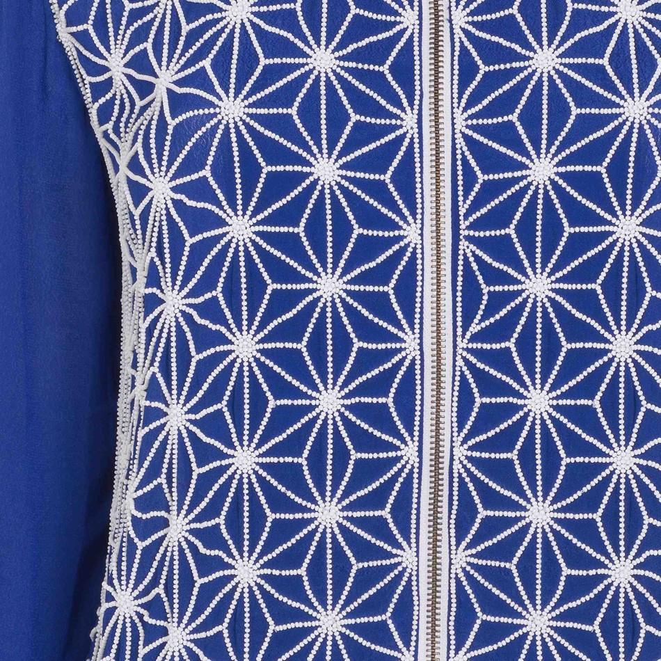 Ester Jacket Electric Blue and White