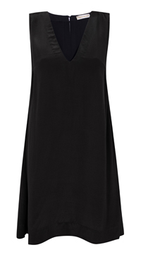 Novin Dress – Black Silk