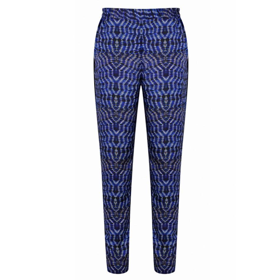Anosha Trousers - Blue/White Shibori or Black/White Shibori