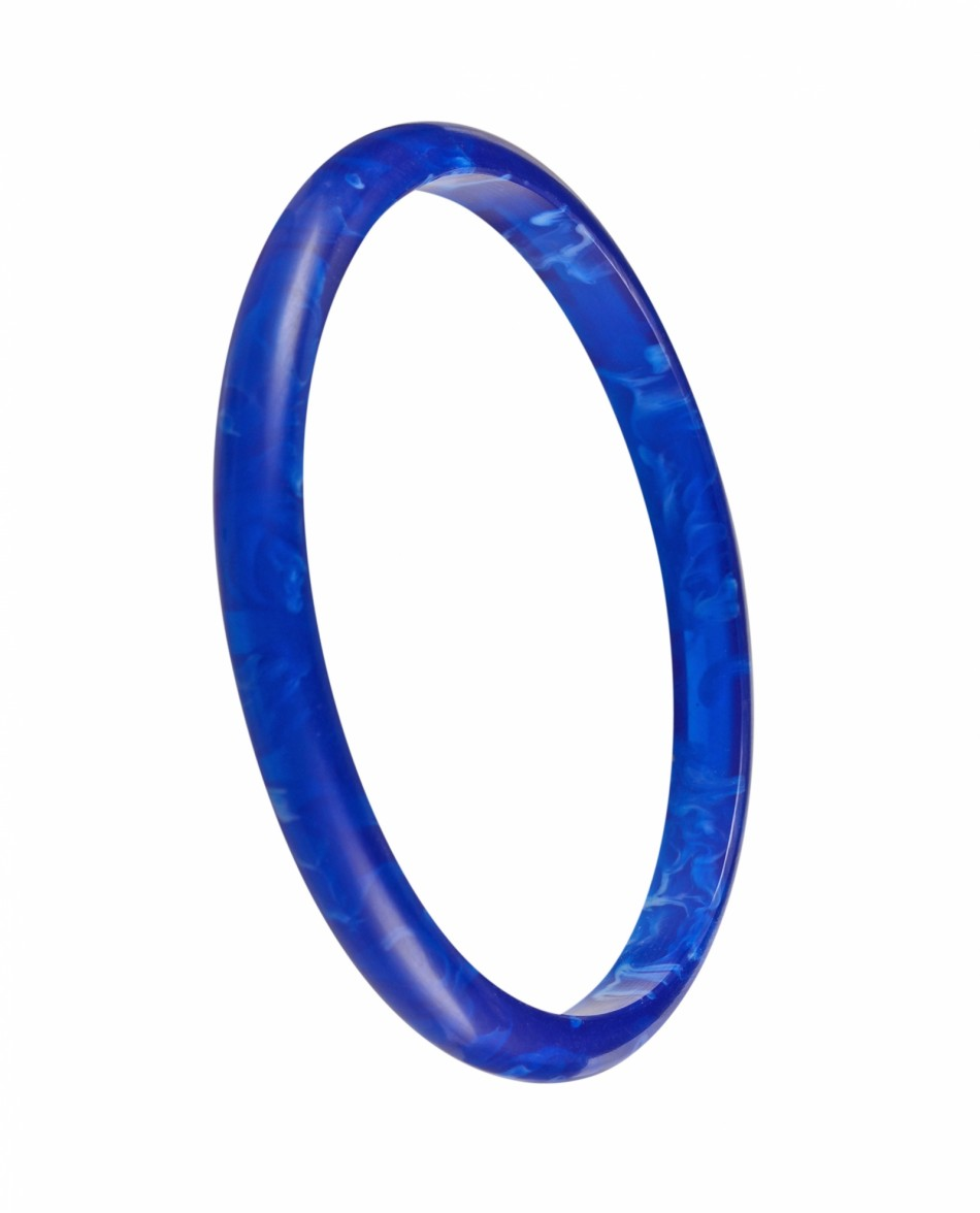 Nava Slim Bangle - Blue/Blue