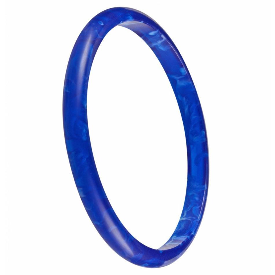 Nava Slim Bangle - Blue/Blue