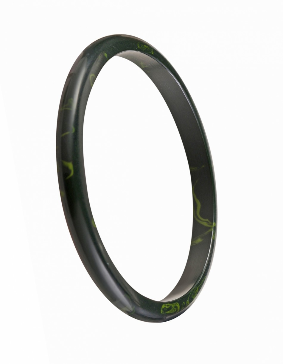 Nava Slim Bangle - Forest/Tarragon