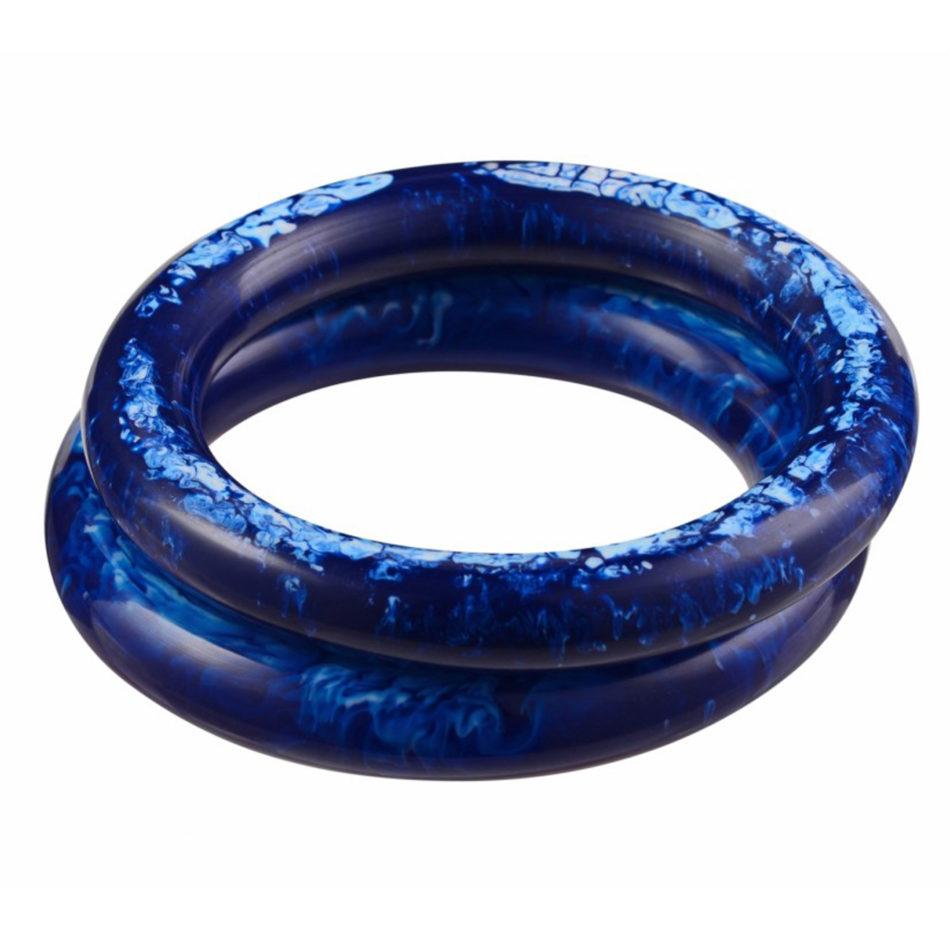 Nava Large Bangle - Blue/Blue