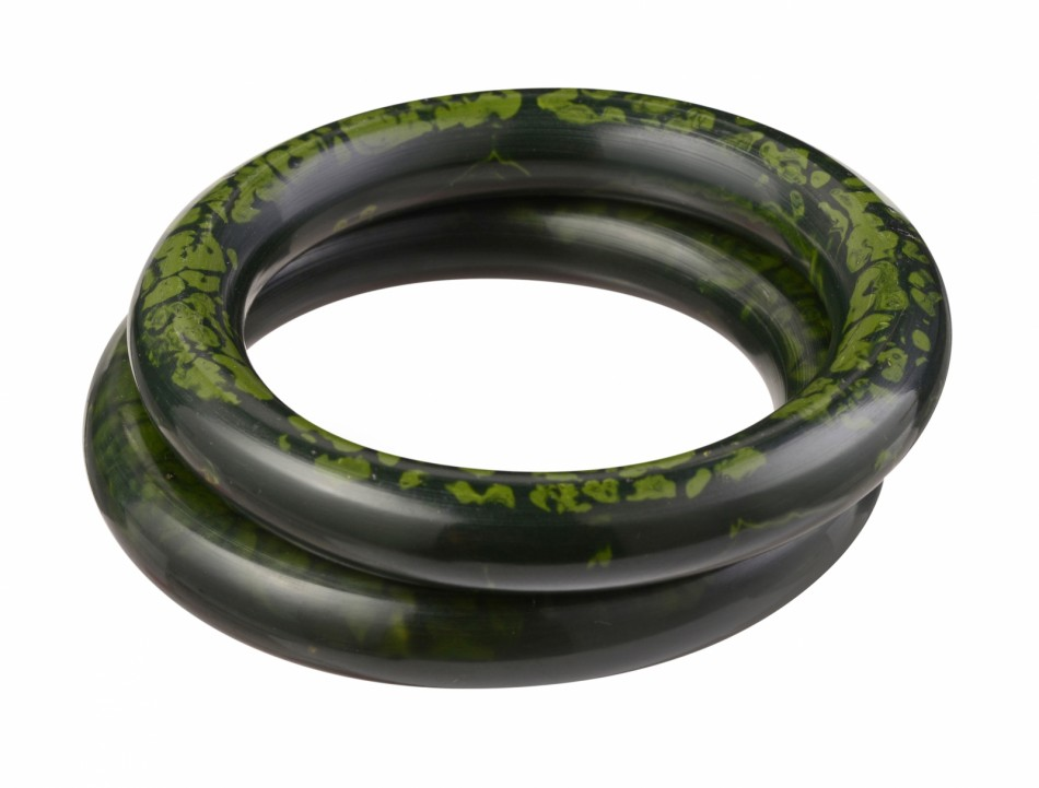 Nava Large Bangle - Forest/Tarragon