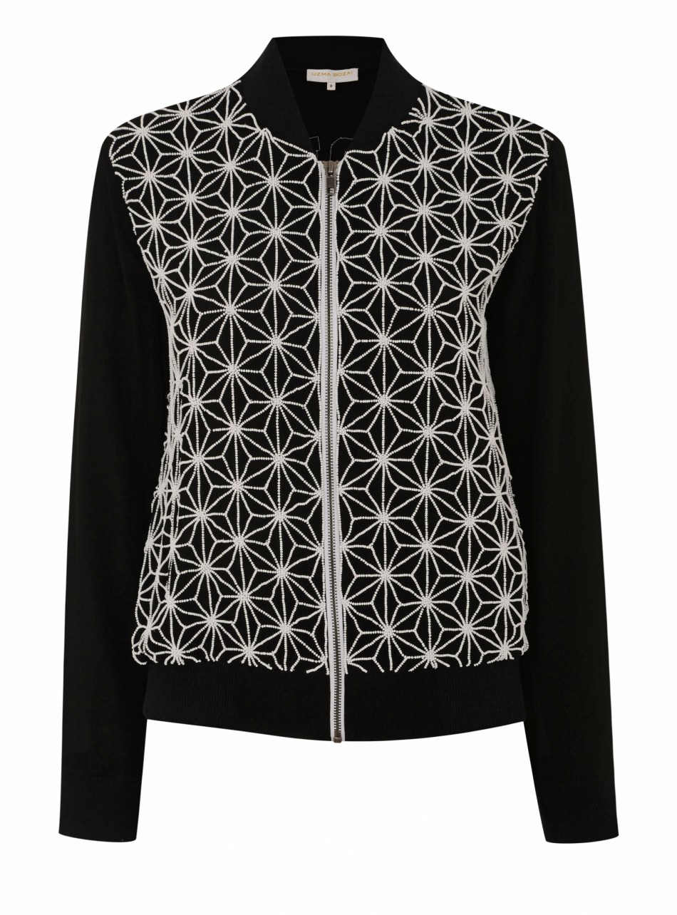Ester Jacket Black and White