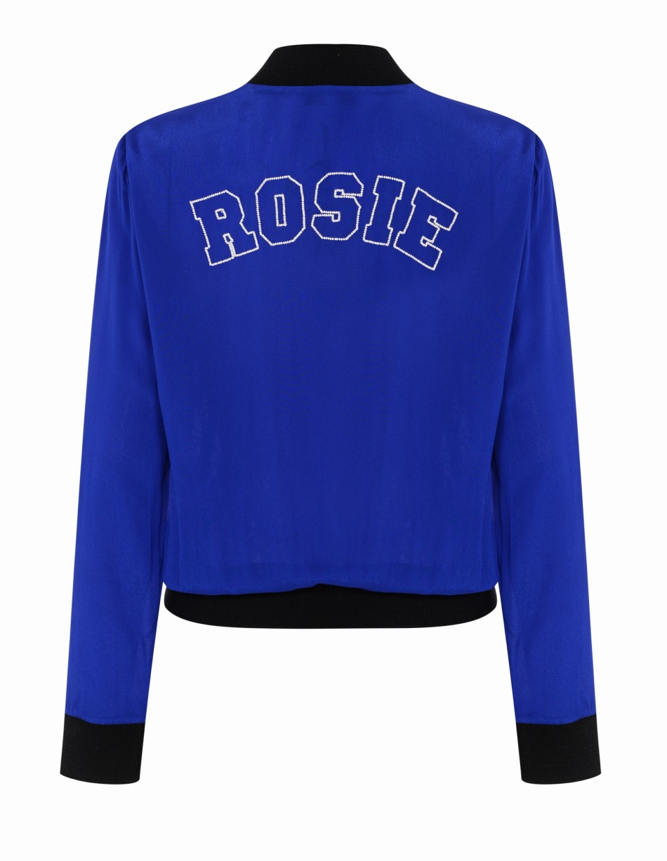 PERSONALISED Ester Jacket Blue and White