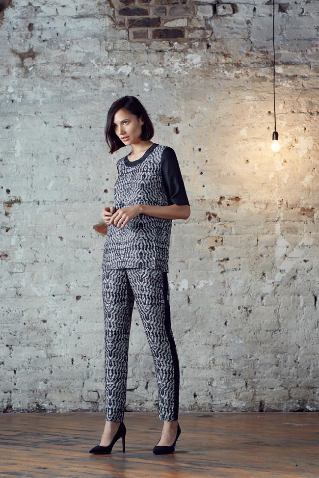 Anosha Trousers – Blue/White Shibori or Black/White Shibori
