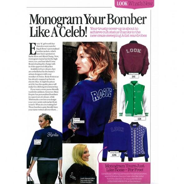 Monogram Your Bomber Like A Celeb!