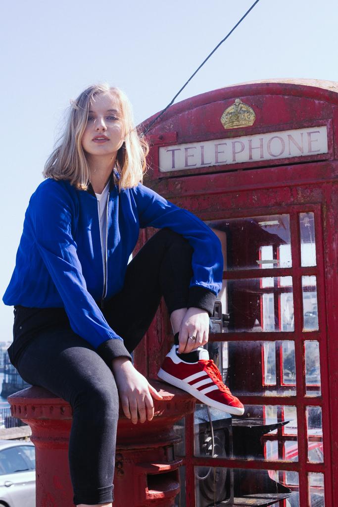 Jamie Jacket Blue and White