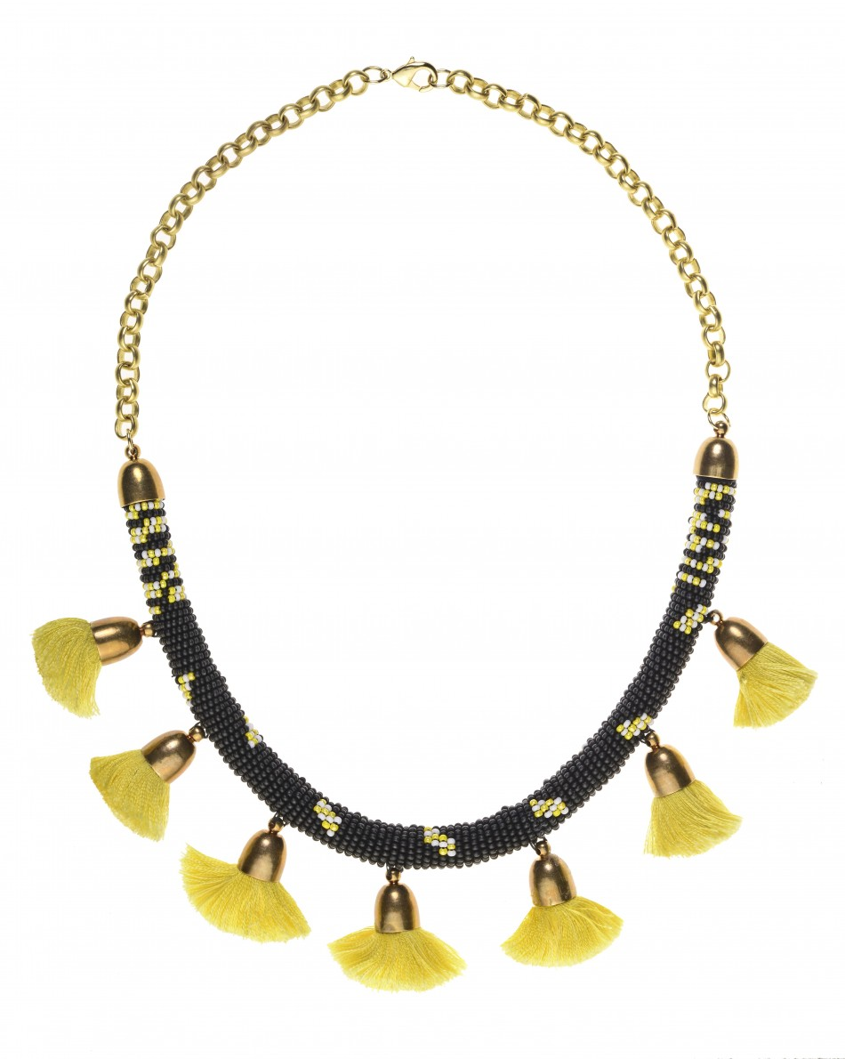 Pom Pom Necklace - Gold