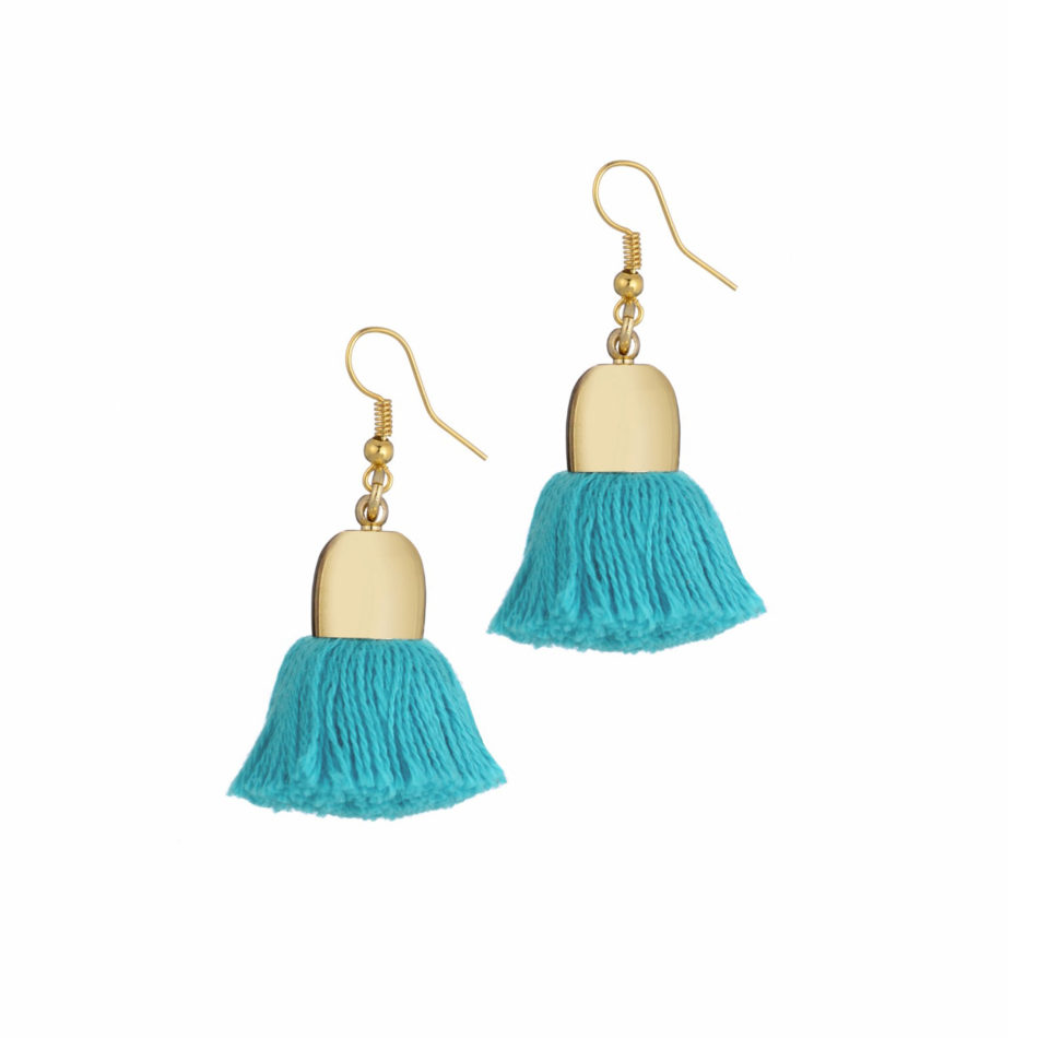 Ami Earrings, Turquoise