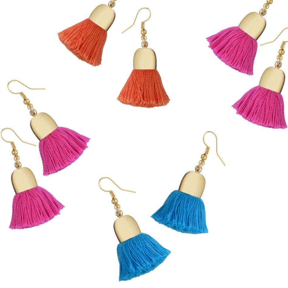 Ami Earrings, Pink