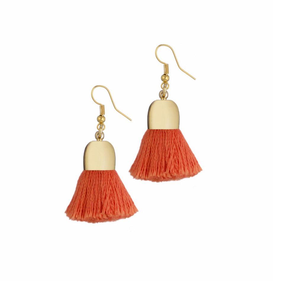 Ami Earrings, Orange