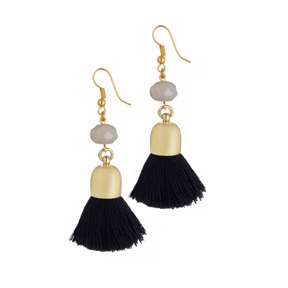 Nat Earrings, black