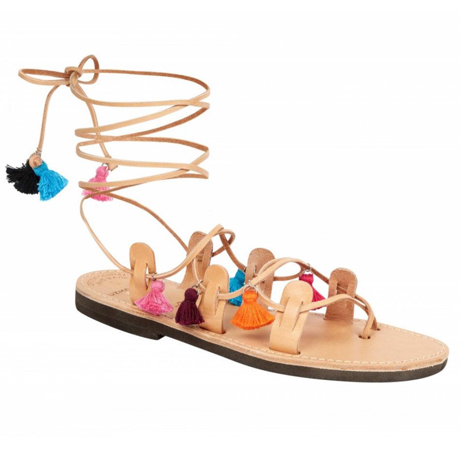 Mati Sandals - Tan/Multi