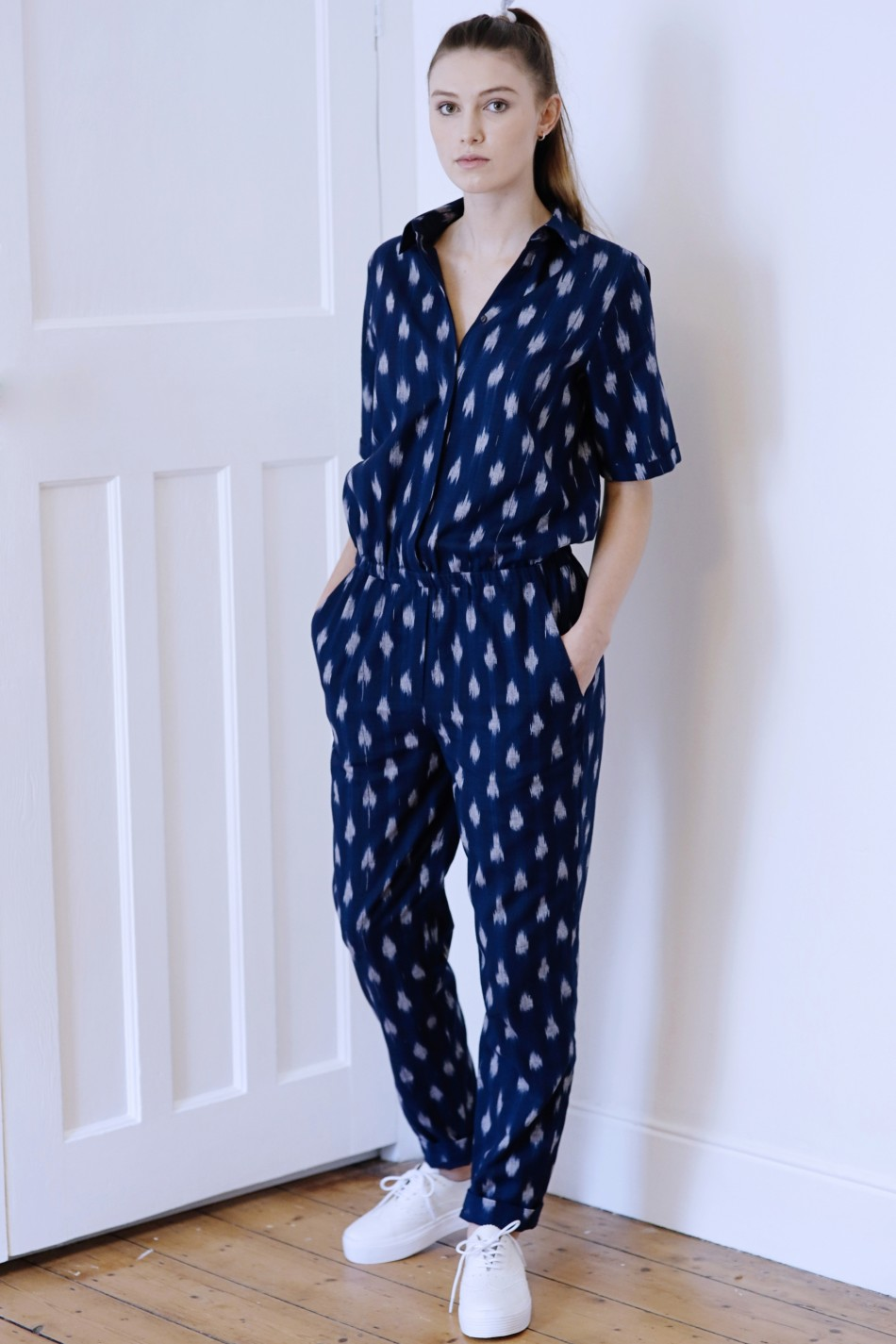 Uzma Bozai Haddy Jumpsuit, Navy