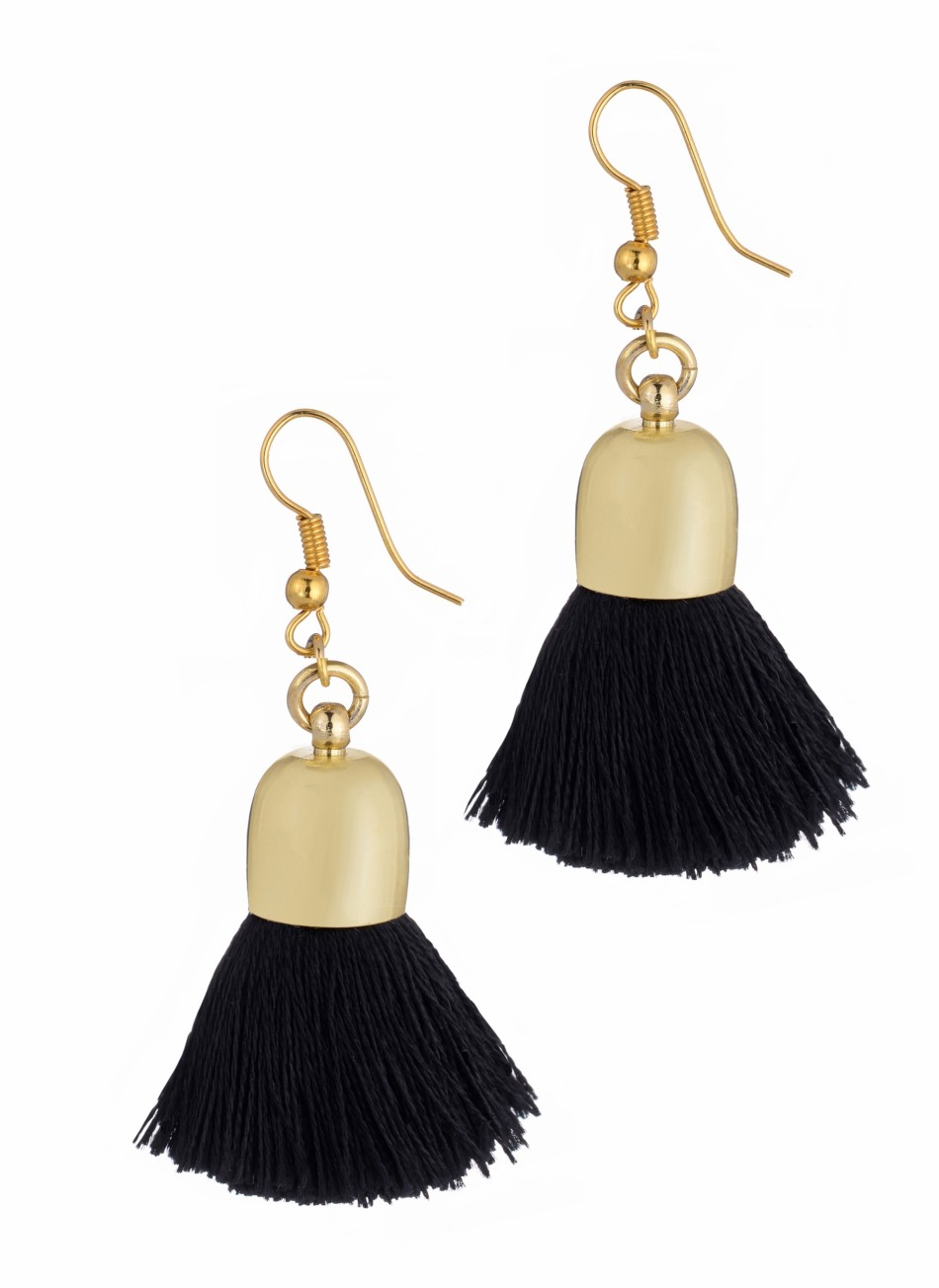 Ami Earrings, Black