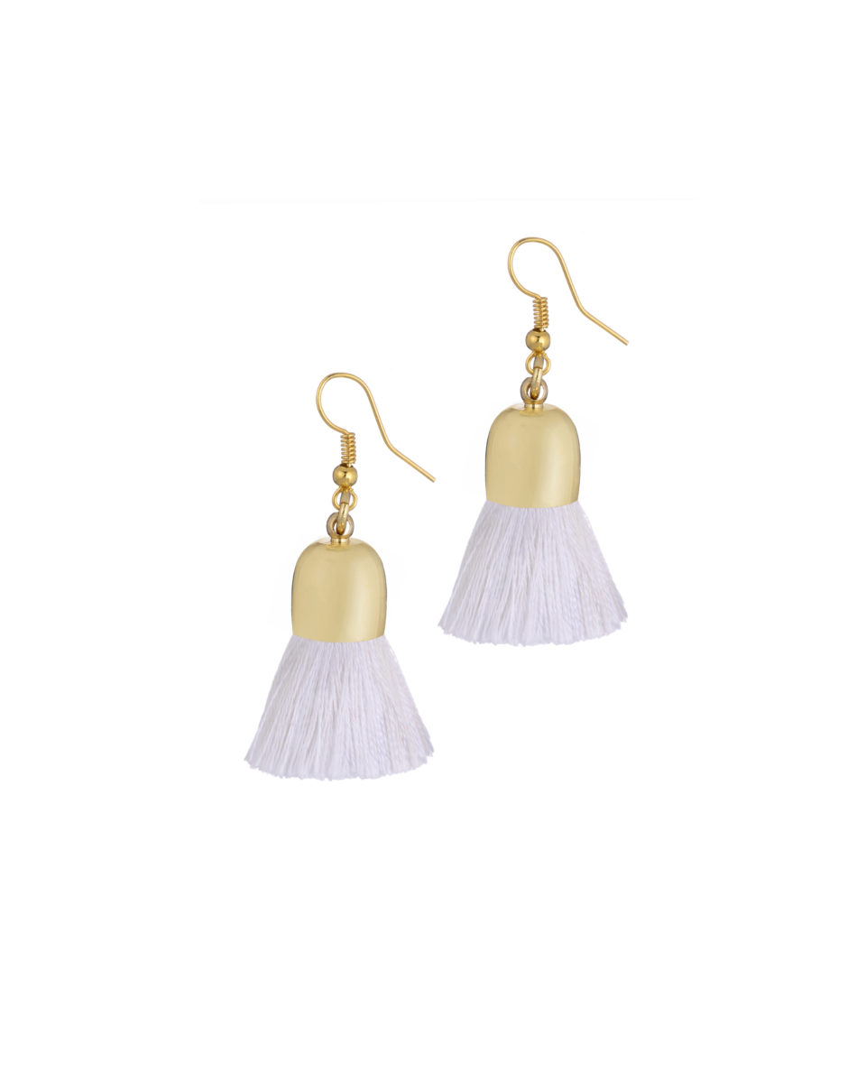 Ami Earrings, White