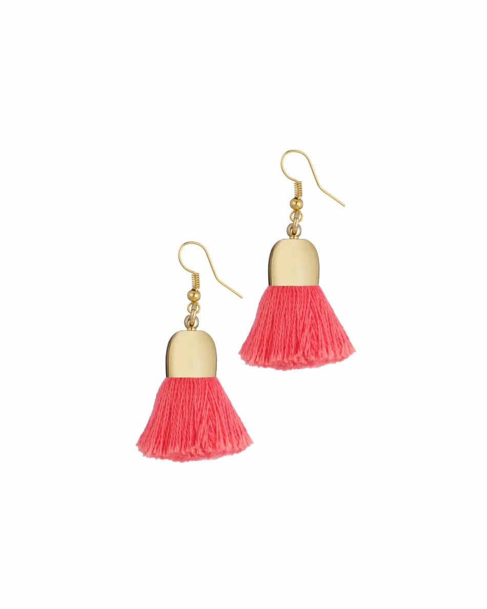 Add a pop of colour with Uzma Bozai's Ami Pompom Earrings
