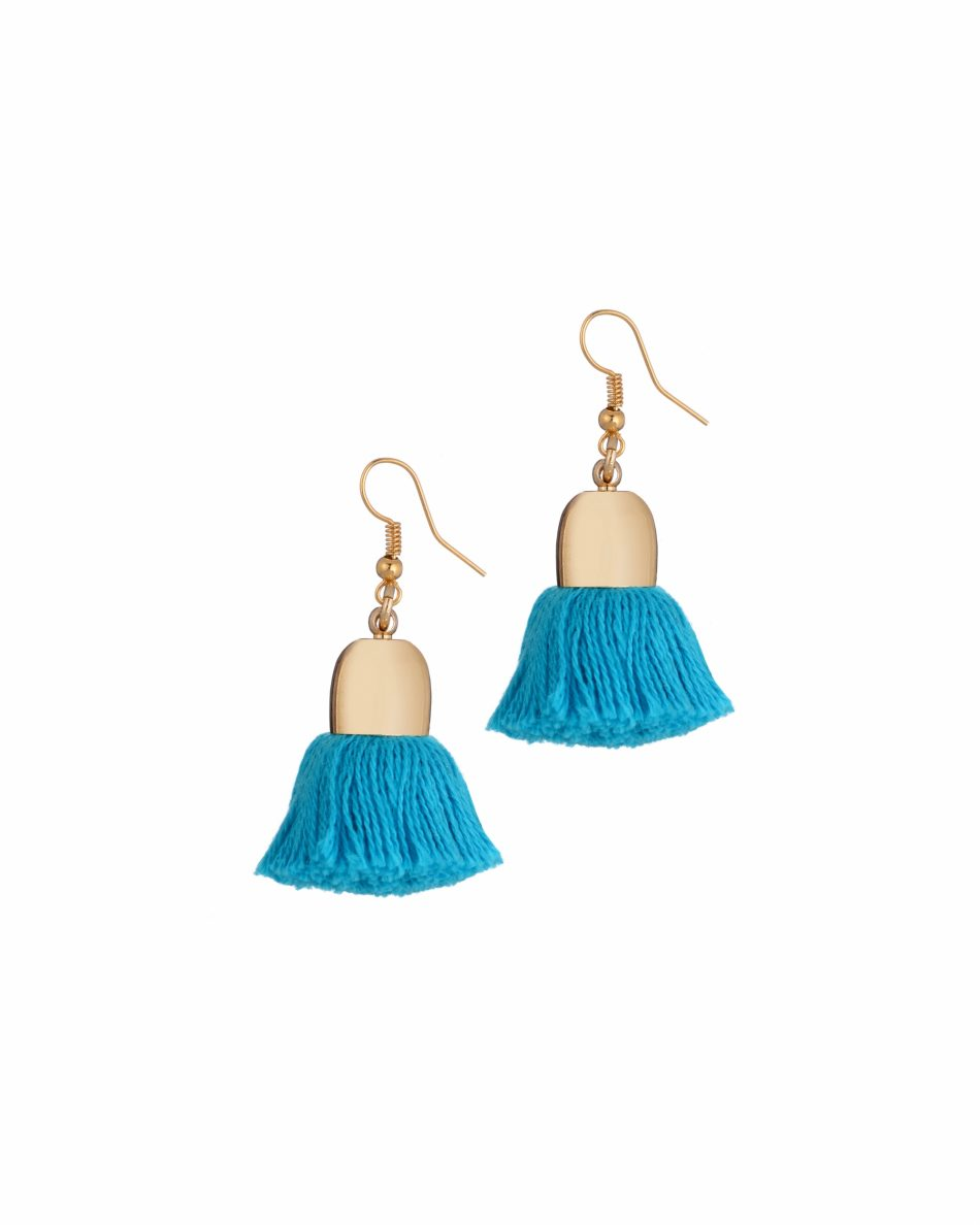 Add a pop of colour with Uzma Bozai's Ami Pompom Earrings