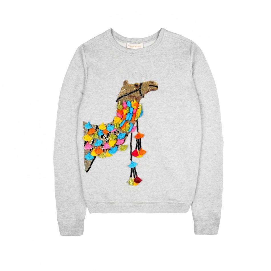 Camel Sweatshirt – Grey Marl