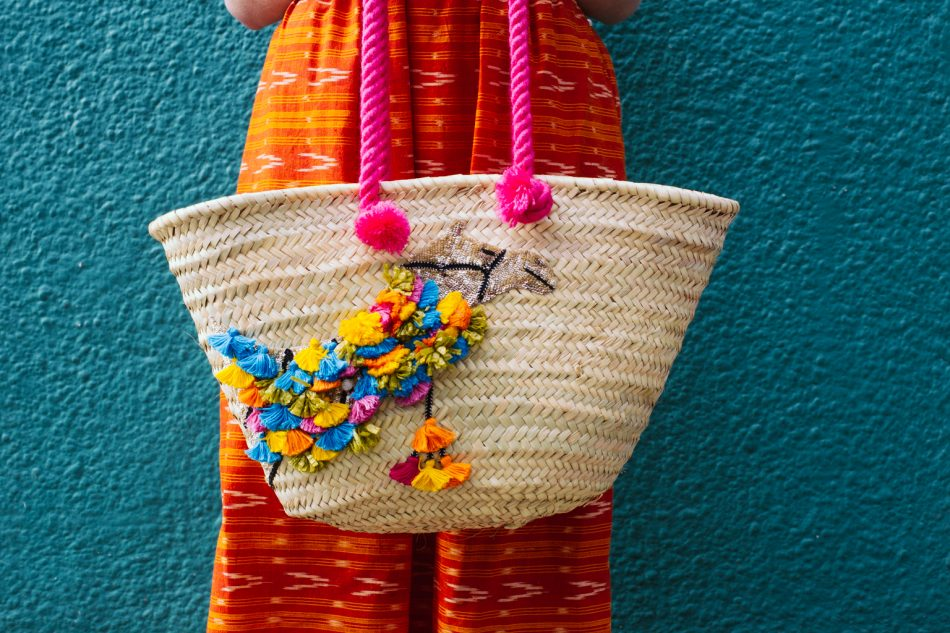 Camel Beach Bag, by Uzma Bozai