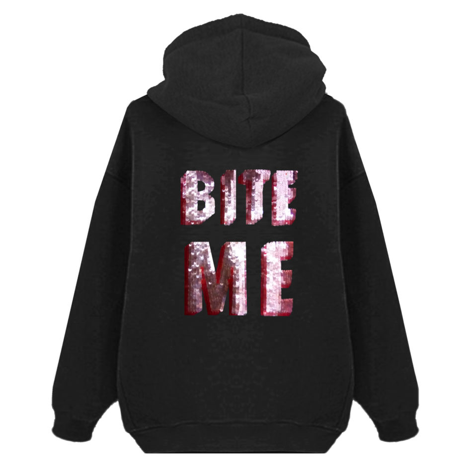 Bite Me Oversized Hoodie – Unisex
