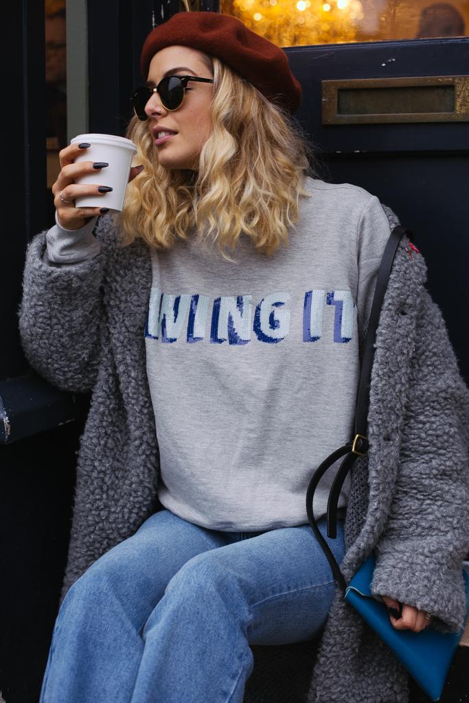 Wing It Sweatshirt – Grey