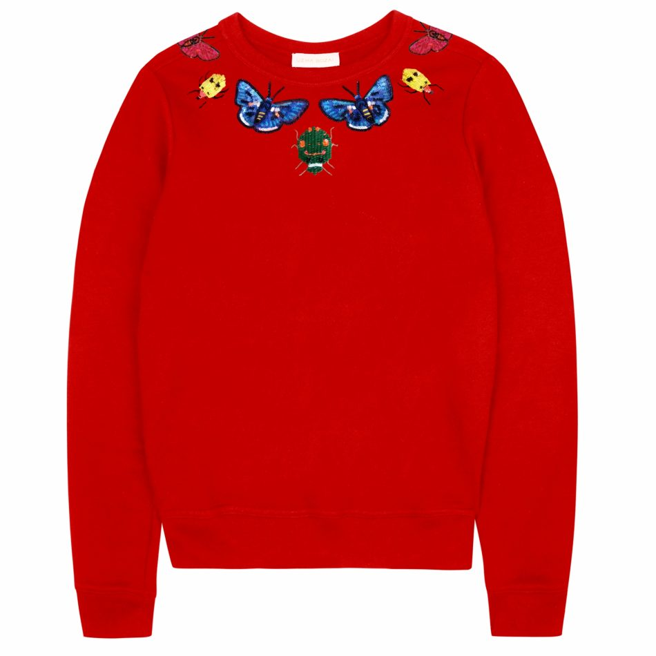 Uzma Bozai's Helena Sweatshirt in Scarlet