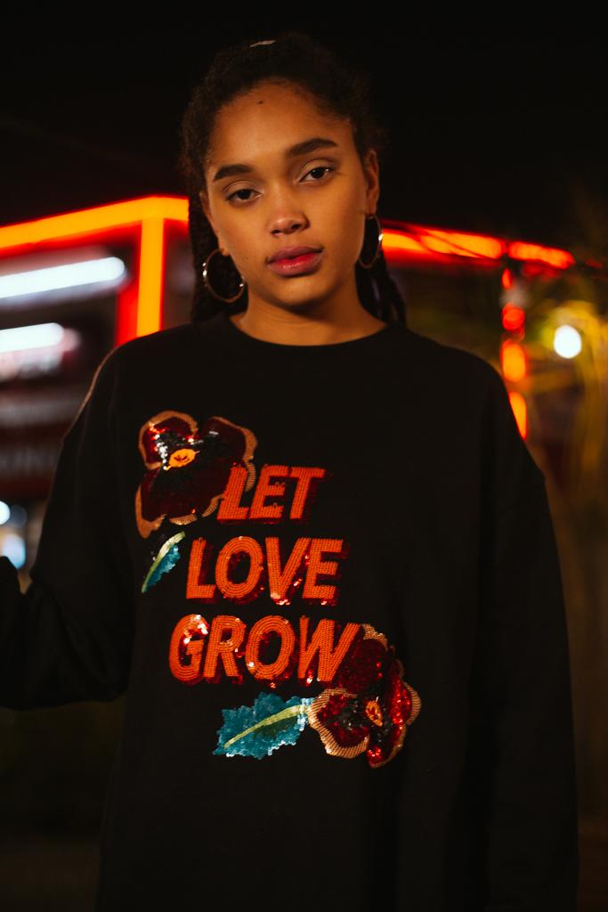 Let Love Grow Oversized Sweatshirt