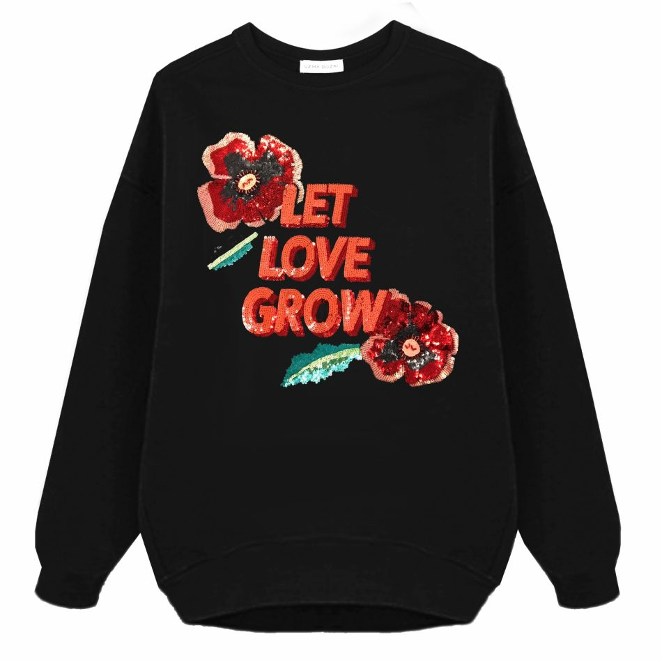 Let Love Grow Oversized Sweatshirt