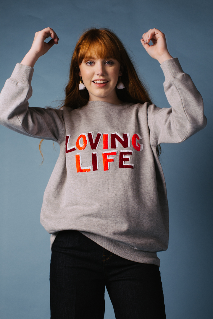 Loving Life Oversized Sweatshirt