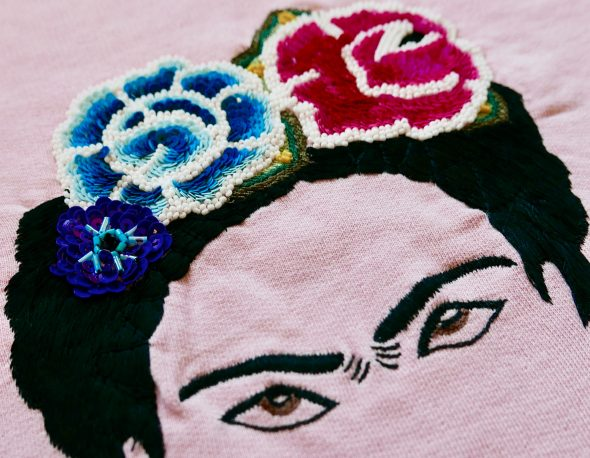 Frida Pink Sweatshirt,<br>In Detail