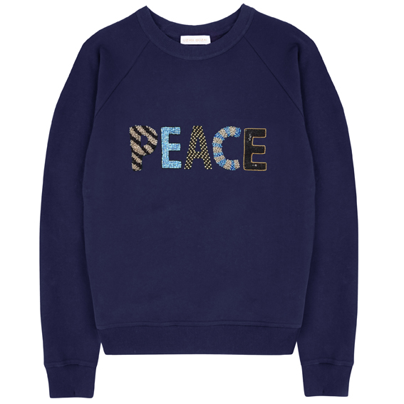 Peace Sweatshirt – Navy