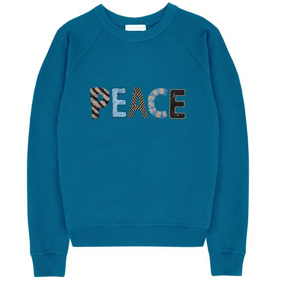 Peace Sweatshirt – Sky Blue