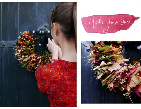 Uzma Bozai Make Your Own Autumn Leaf Wreath