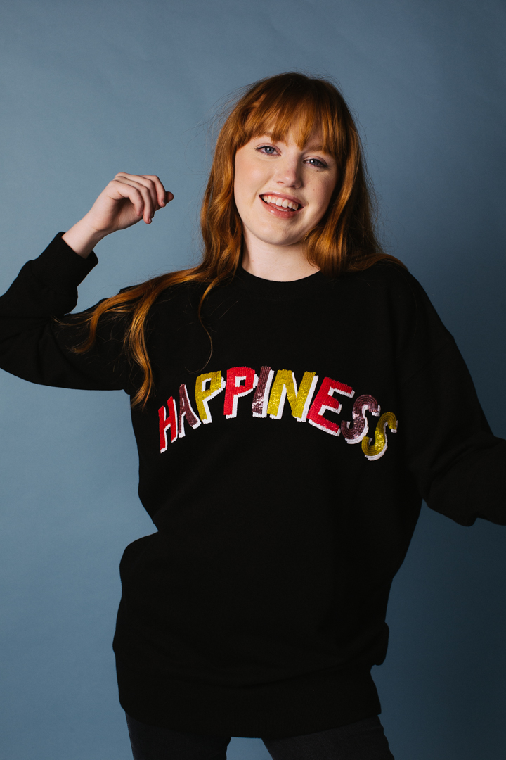 Happiness Oversized Sweatshirt – Unisex