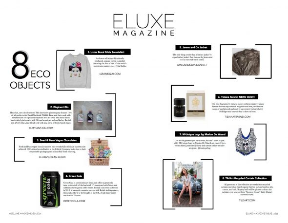 Uzma Bozai featured in Eluxe Magazine